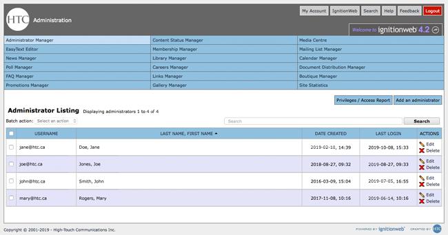IgnitionWeb Screenshot