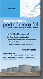 CanTerm Port of Montreal Ad
